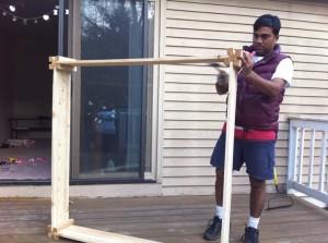 building a veggie bed
